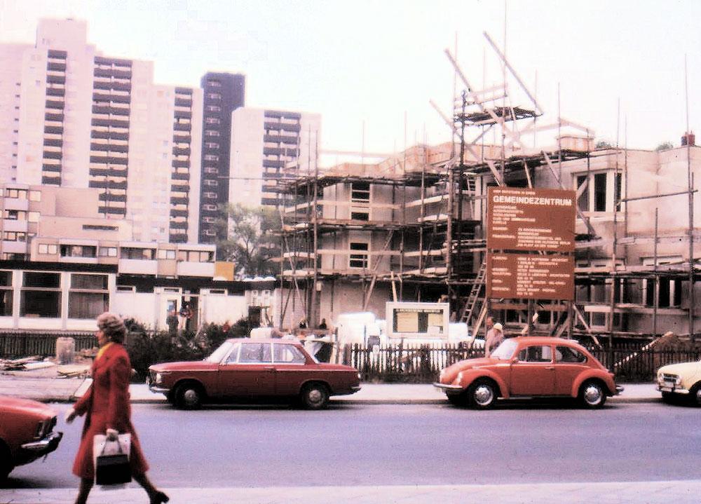 Bau des Gemeindezentrums in der Waldsassener Straße  © Arbeitskreis Historisches Marienfelde