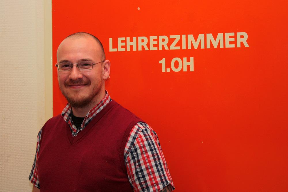 MIchael Schulz ist Lehrer an der Berlinicke-Schule in Berlin-Tempelhof © K. Schwahlen 2017
